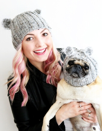 Matching Dog & Adult Koala Hat Set
