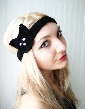 Adult Black Cat Headband