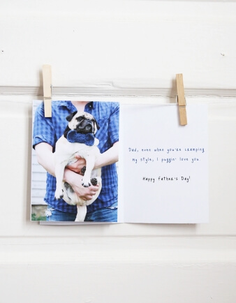 Stylish Pug Father's Day Card
