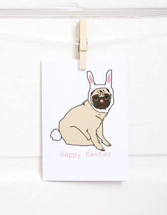 Easter Puggy Cards