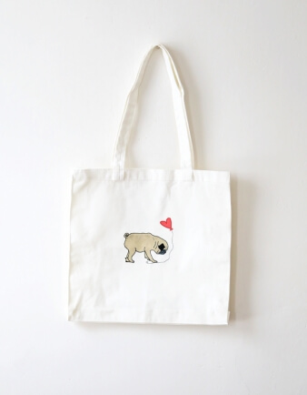 Pug In Love Tote Bag